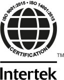 Modexa Intertek ISO 9001:2015 • ISO 14001:2015 Certification